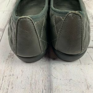THE FLEXX Shoes - THE FLEXX green quilted ballet flats 9